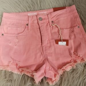 NWT Mossimo Pink Cut Off Distressed Jean Shorts